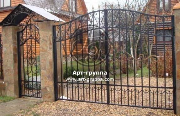 купить Ворота кованые - изделие: 0525