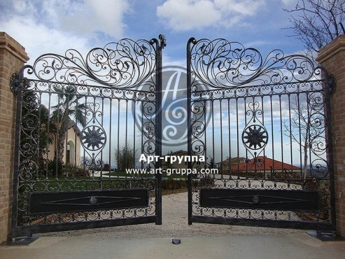 купить Ворота кованые - изделие: 0528