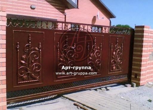 купить Ворота кованые - изделие: 0582