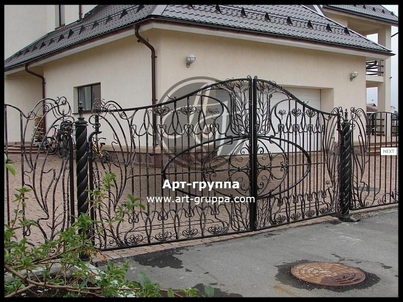 купить Ворота кованые - изделие: 0592