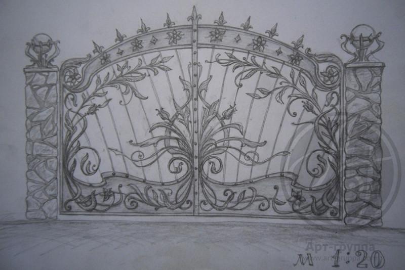 купить Ворота кованые - изделие: 0620
