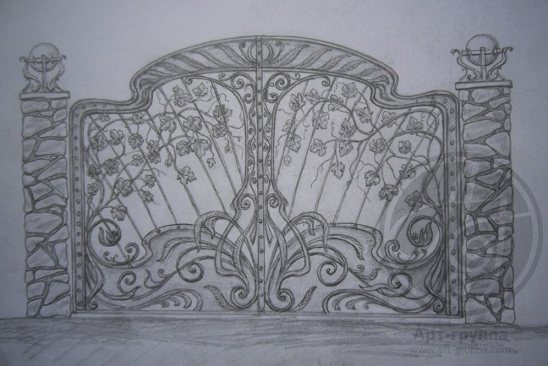 купить Ворота кованые - изделие: 0622