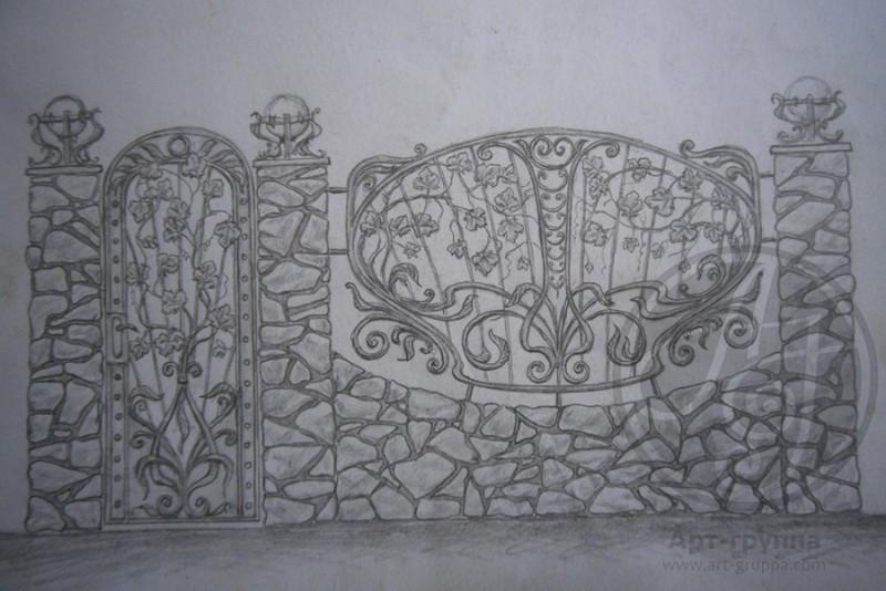 купить Ворота кованые - изделие: 0623