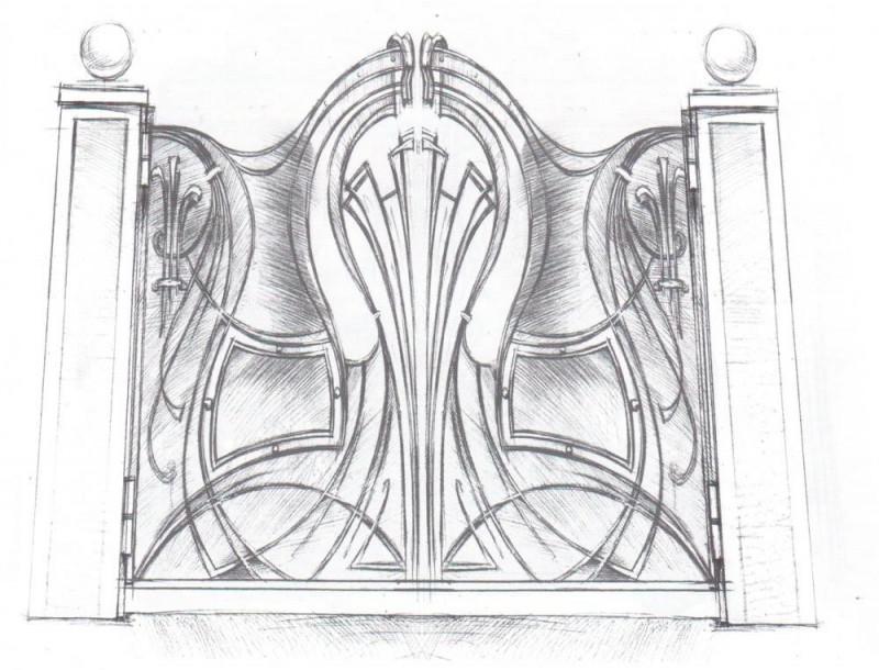 купить Ворота кованые - изделие: 0631