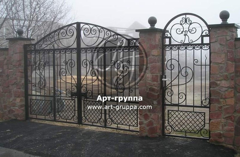 купить Ворота кованые - изделие: 0633
