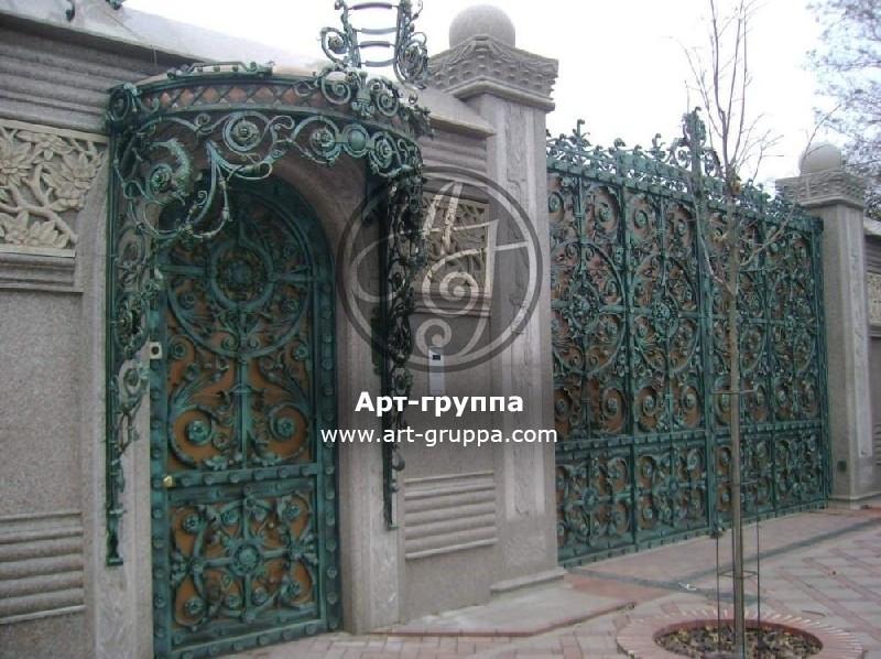 купить Ворота кованые - изделие: 0659