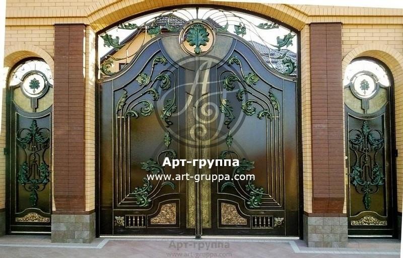купить Ворота кованые - изделие: 0664