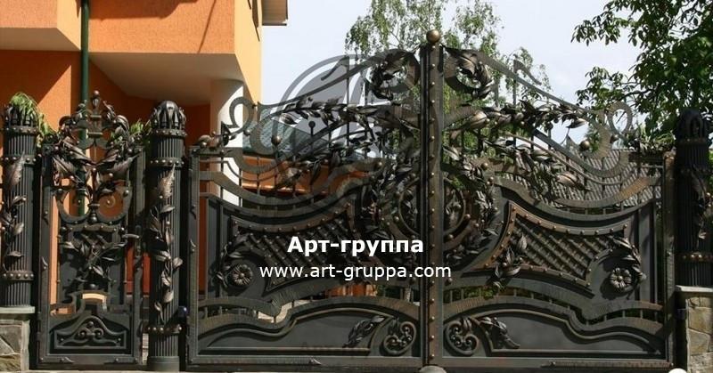 купить Ворота кованые - изделие: 0672