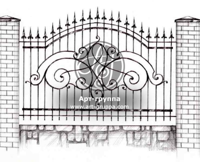 купить Забор кованый - изделие: 0710