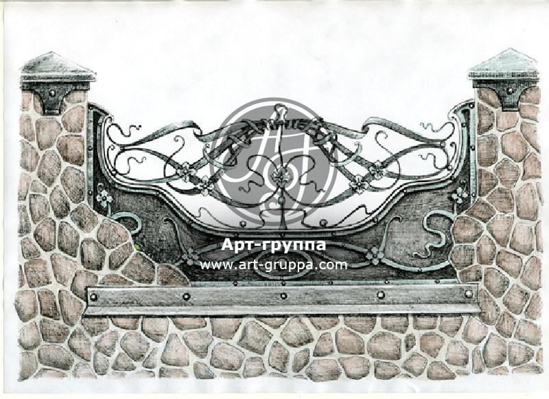 купить Забор кованый - изделие: 0712