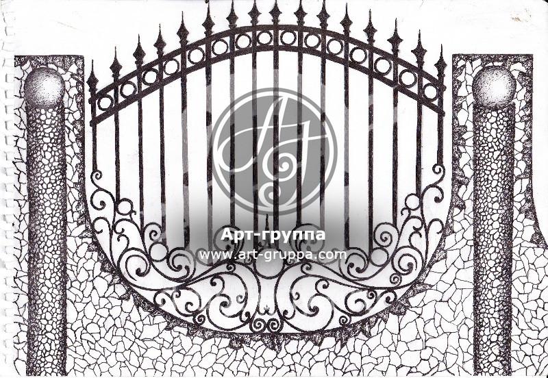 купить Забор кованый - изделие: 0713