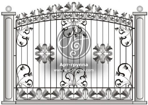 купить Забор кованый - изделие: 0714