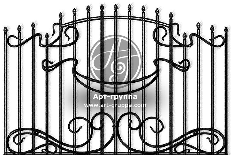купить Забор кованый - изделие: 0715