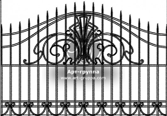 купить Забор кованый - изделие: 0716