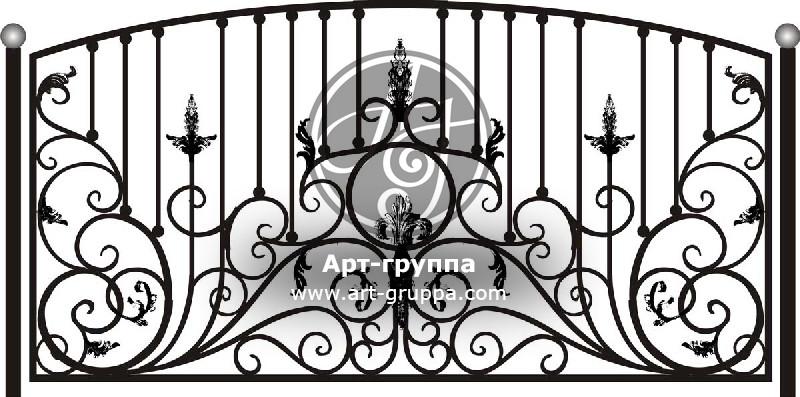 купить Забор кованый - изделие: 0717