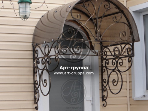 купить Козырек кованый - изделие: 0849