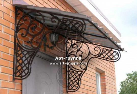 купить Козырек кованый - изделие: 0850