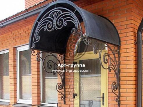 купить Козырек кованый - изделие: 0854