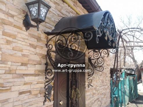 купить Козырек кованый - изделие: 0856