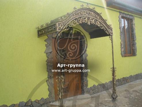 купить Козырек кованый - изделие: 0857