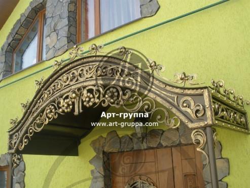 купить Козырек кованый - изделие: 0858