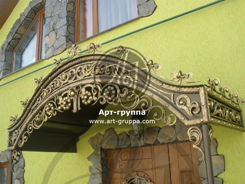 купить Козырек кованый - изделие: 0870