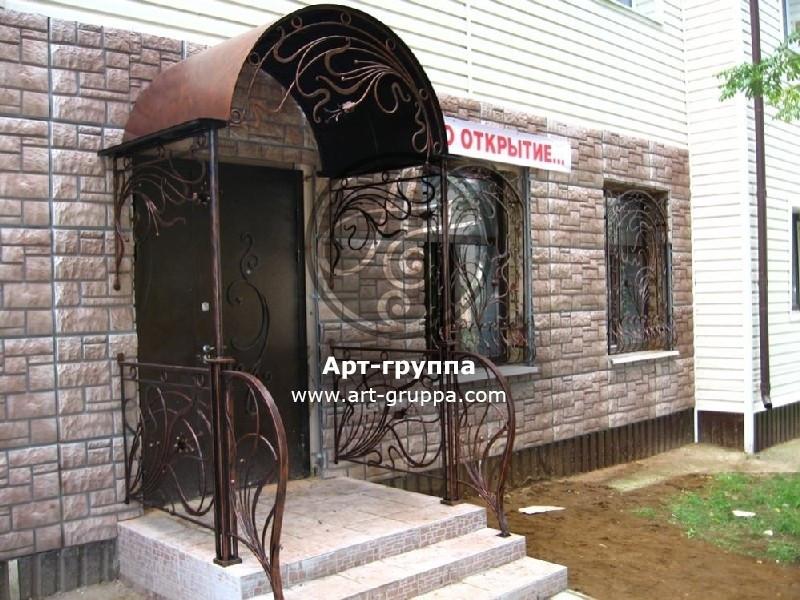 купить Козырек кованый - изделие: 0874