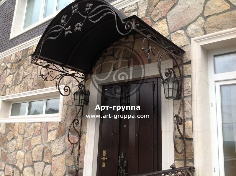 купить Козырек кованый - изделие: 0877