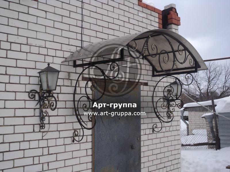купить Козырек кованый - изделие: 0893