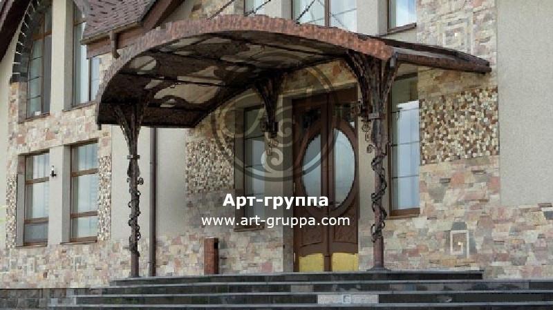 купить Козырек кованый - изделие: 0915