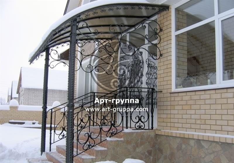 купить Козырек кованый - изделие: 0917