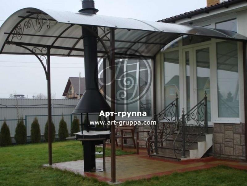 купить Козырек кованый - изделие: 0935