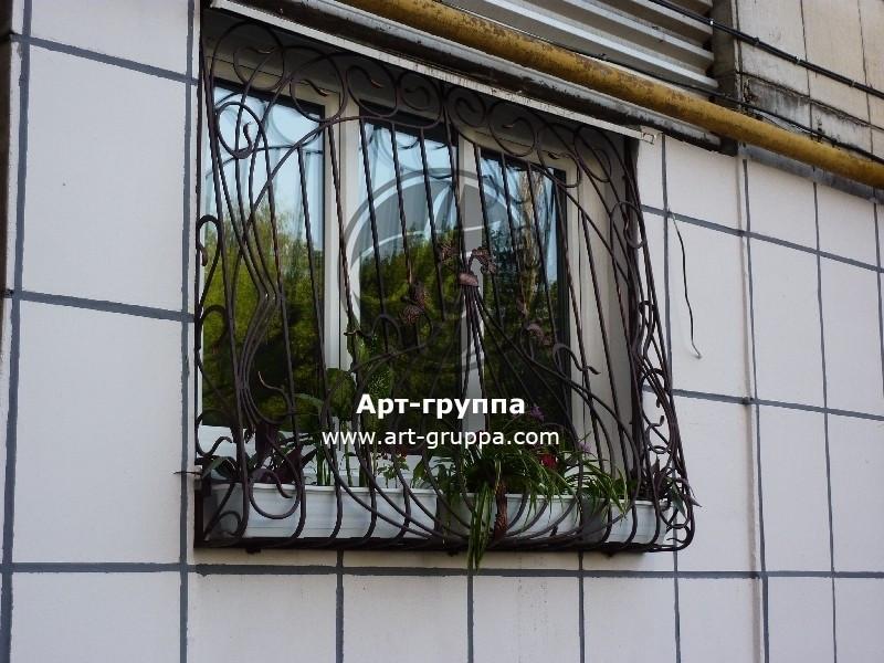 купить Решетка кованая на окно - изделие: 1044
