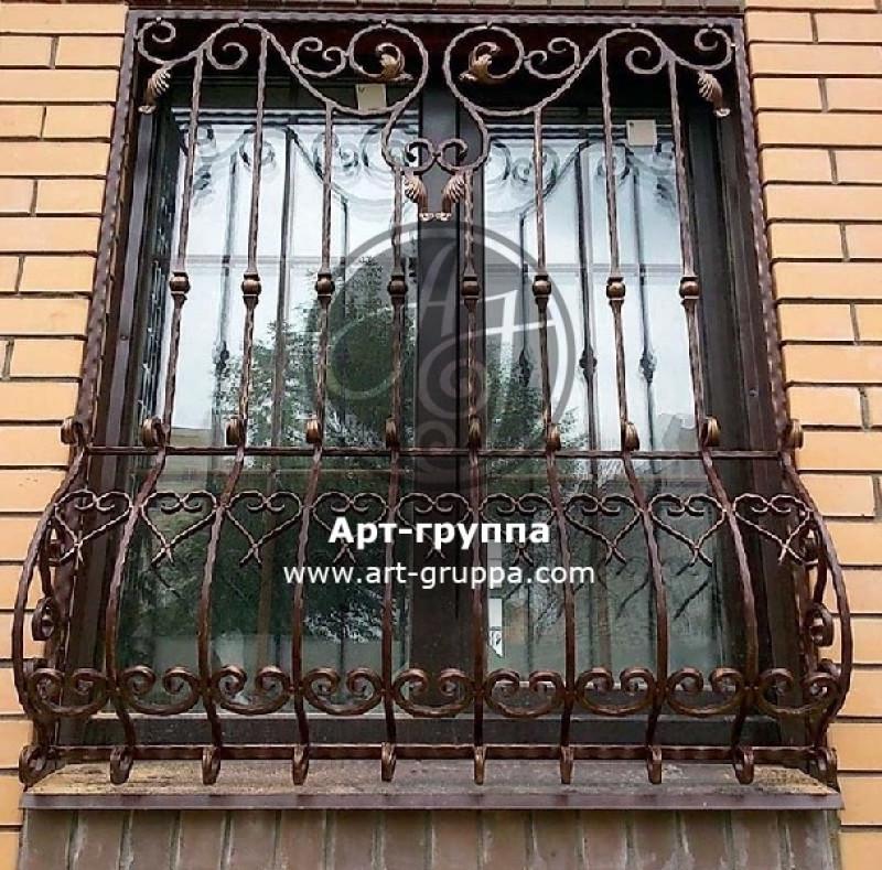 купить Решетка кованая на окно - изделие: 1047