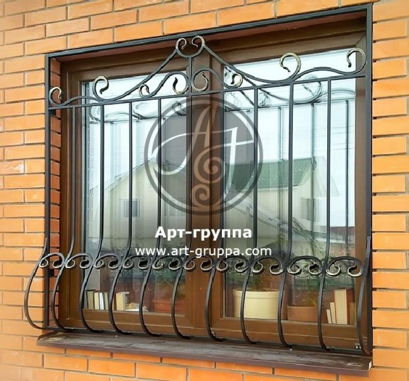 купить Решетка кованая на окно - изделие: 1055
