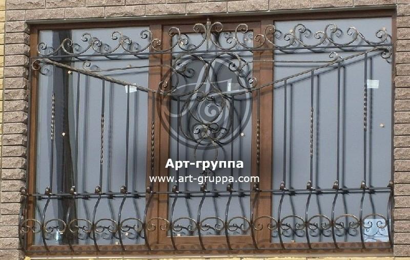 купить Решетка кованая на окно - изделие: 1058