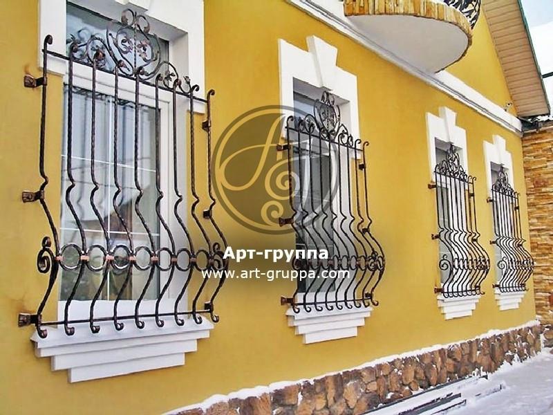 купить Решетка кованая на окно - изделие: 1061