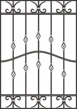 купить Решетка кованая на окно - изделие: 1067