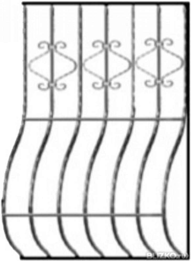 купить Решетка кованая на окно - изделие: 1078