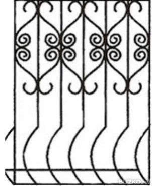 купить Решетка кованая на окно - изделие: 1080